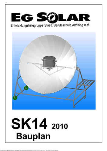 workshop drawing for solar cooker SK14
